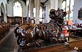 Church of St Mary Hatfield Broad Oak Essex England - St Mark lion sculpture.jpg