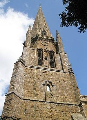 St Mary's Church, Bloxham - Image: Church spire at St Mary's, Bloxham geograph.org.uk 1461096