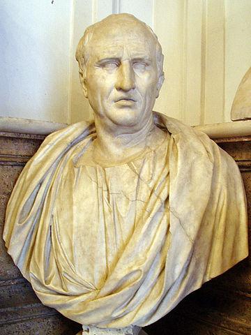 Марк Туллий Цицерон. Бюст из Капитолийских музеев в Риме