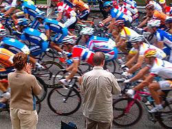 Fotografia scattata durante il campionato del mondo di ciclismo su strada a Verona, sulla salita che porta sulle Torricelle