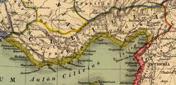 Kilikien Karte von Heinrich Kiepert.png