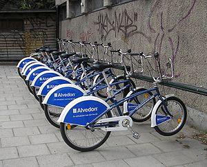 Lender bikes in Stockholm