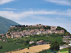View of the Civitella old town.