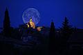Clair de lune à Teyran sur le clocher.jpg