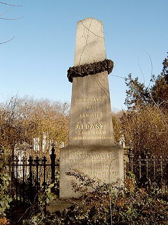 Adam Clark (engineer) - Clark's grave marker in Kerepesi Cemetery