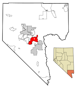 Location of Henderson in Clark County, Nevada