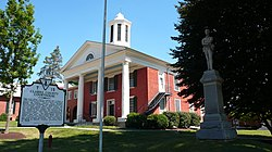 The Clarke County Courthouse in Berryville, Virginia.
