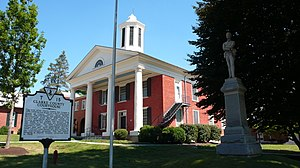 Berryville, Virginia - The Clarke County Courthouse in Berryville