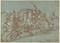 Classical Battle Scene; Verso- Peter and John Heal a Cripple at the Gate of the Temple MET DP102250.jpg
