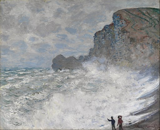 Claude Monet - Rough weather at Étretat - Google Art Project