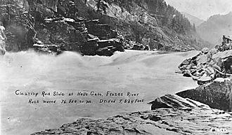 Hells Gate (British Columbia) - Clearing Rock Slide at Hells Gate, Fraser River