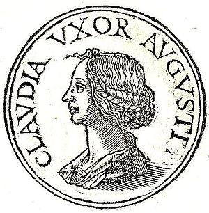 Clodia Pulchra (wife of Augustus) - Clodia from Promptuarii Iconum Insigniorum