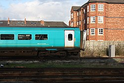 Coach at Chester railway station (26803446442).jpg