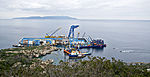 Coast of Isola del Giglio with the Costa Concordia shipwreck - 2 June 2012.jpg