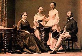 Filippo Coletti - Coletti with wife and daughters