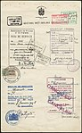 Collective Passport Certificate of the 19 members of the Olympic Hockey Team- Boucher to Watson. Page 6, 1948 - Certificat collectif pour les 19 membres de l'équipe olympique de hockey, de Boucher à Watson. Page 6, 1948 (25173322517).jpg