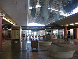 Colma station - Station entry concourse, January 13, 2013