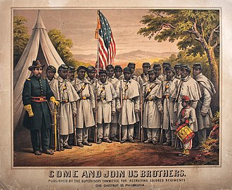 United States Colored Troops - An USCT recruiting poster