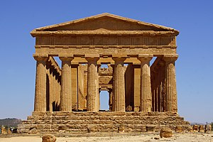 Temple of Concordia, Agrigento - Image: Concordiatempel Tempio della Temple of Concordia de la Concorde Tal der Tempel Valle dei Templi Agrigento Sizilien Foto Wolfgang Pehlemann DSC07490