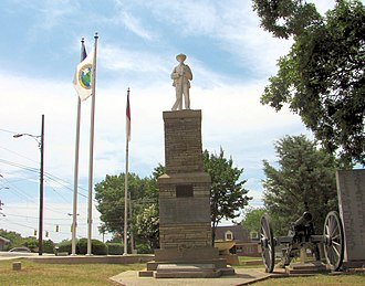 Taylorsville, North Carolina - Confederate Soldiers Monument at Alexander County Courthouse in Taylorsville