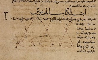 Conic section - Diagram from Apollonius' Conics, in a 9th-century Arabic translation