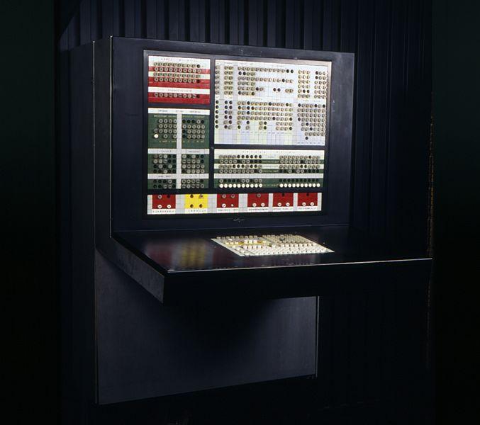 File:Console di comando per sistema Olivetti ELEA 9003 - Museo scienza tecnologia Milano D1230 02 foto.jpg