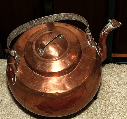 18th century copper kettle from Norway made from Swedish copper Copper Pot.jpg