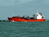 Coral Obelia IMO 9053816 leaving Port of Rotterdam, Holland 08-Apr-2006.jpg