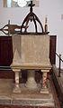 Corby Glen St John's - baptismal font.jpg