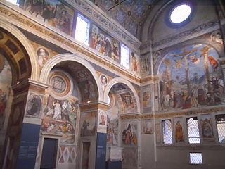 Affreschi del coro delle monache del monastero di Santa Giulia