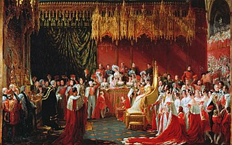 Coronation of Queen Victoria - Sir George Hayter's view of the 1838 coronation