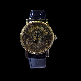 Coin watch - Image: Corum Coin Watch P5200012 black