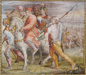 Cosimo de' Medici - Cosimo goes into exile, Palazzo Vecchio.