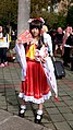 Cosplayer of Reimu Hakurei, Touhou Project at CWT41 20151212.jpg
