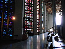 Lee's windows in the Nave of Coventry Cathedral