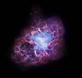 Great Observatories program - Chandra, Hubble, and Spitzer image of the Crab Nebula