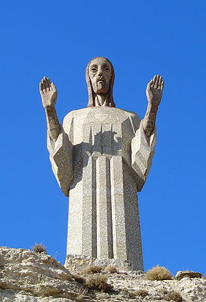 Palencia - Cristo del Otero, by Víctorio Macho: the fourth largest Christ statue in the world, after Christ the King in Świebodzin, Poland, Cristo Redentor in Rio de Janeiro, Brazil and Cristo de la Concordia in Cochabamba, Bolivia.