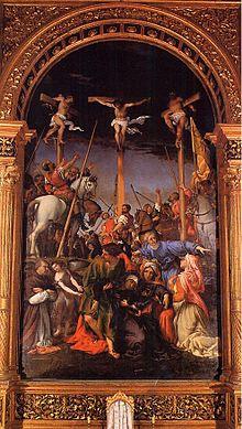 Crocifissione di Lorenzo Lotto, 1533-1534 circa, chiesa di Santa Maria della Pietà in Telusiano