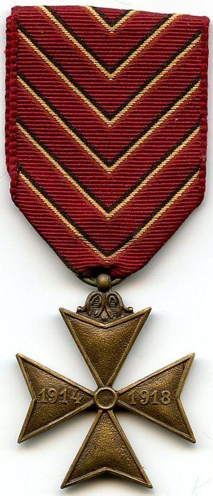 Deportees' Cross 1914–1918 - Image: Croix des Déportés AVERS