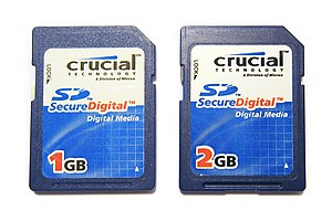 Micron Technology - Crucial-branded SD memory cards from 2007.
