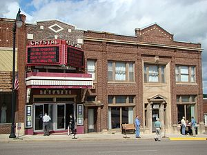 Crystal Theater - The exterior and marquee of the Crystal Theater
