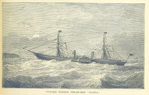 RMS Scotia - RMS Scotia underway