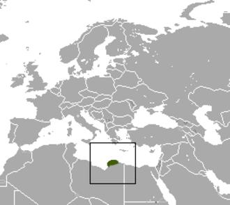 Cyrenaica shrew - Image: Cyrenaica Shrew area