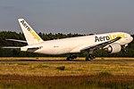 D-AALC AeroLogic Boeing 777-FZN departing on Rwy18 to Leipzig (LEJ EDDP) @ Frankfurt Rhein-Main International (FRA EDDF) 18.07.2016 (38776024302).jpg