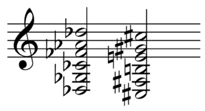 D♭ tuning - D-flat/C-sharp tuning.