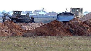 national guard bulldozers