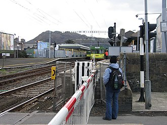 Public transport operators in Dublin - DART trains at Bray Railway Station