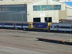 New Zealand DB class locomotive - DBR 1254 at Westfield