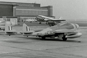 No. 25 Squadron RAF - Vampire NF.10 night fighter of No. 25 Squadron in 1954