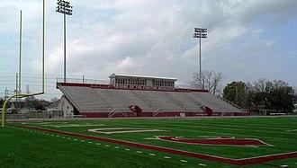 Destrehan High School - Image: DHS Wildcat Stadium Home Endzone